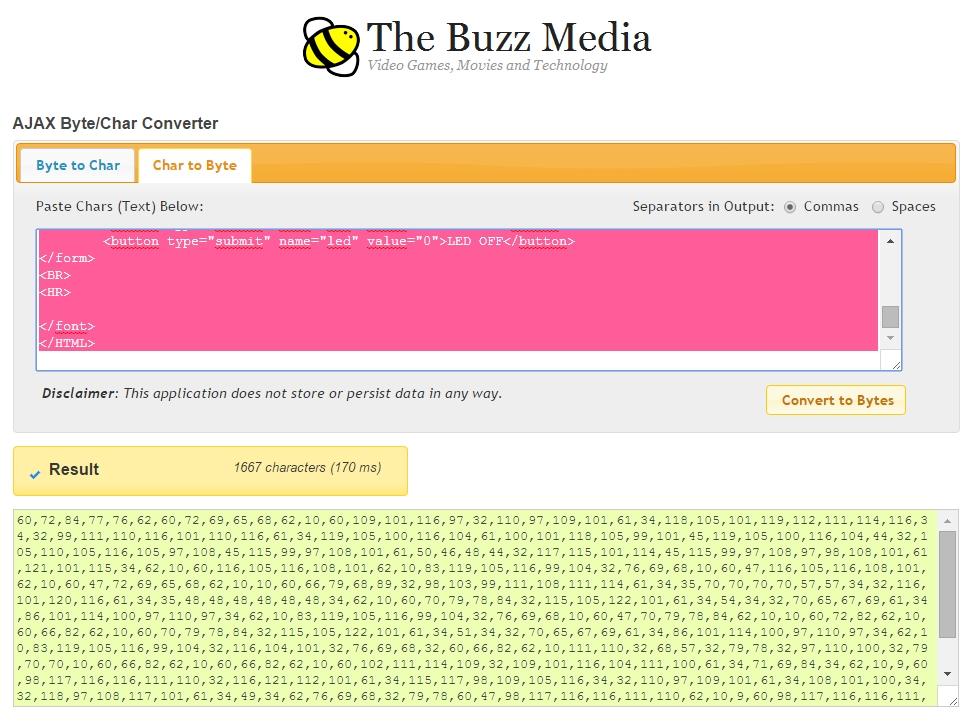 Die Umwandlung auf der Buzz Media Seite