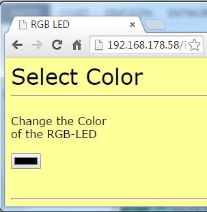 Die Webseite mit ColorPicker