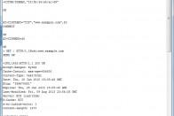 Auszug der Antwort des Webservers