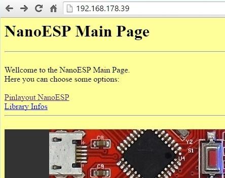 Die Webseite im Browser