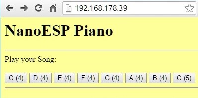 Die Piano Webseite