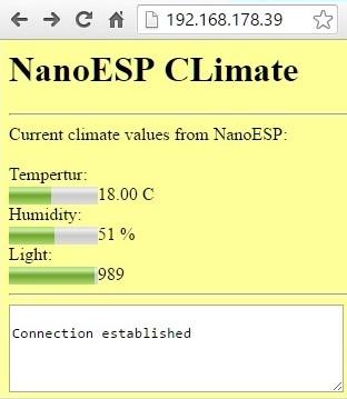 Die aktuellen Klimadaten im Browser