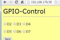 Die Webseite GPIO-Control