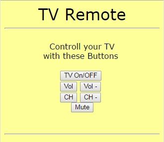 Die TV-Remote Webseite