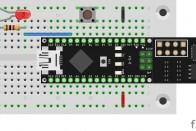 Der Schalter platzsparend an D8 angeschlossen